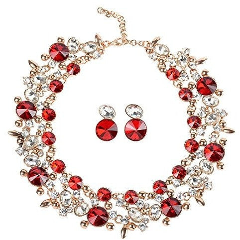 Choker Statement Necklace Jewelry Set - MillionDollarGurl.Com