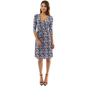 Faux Wrap A Line Dress - MillionDollarGurl.Com