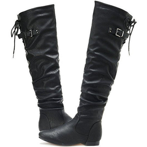 Over The Knee Pull On Slouchy High Boots - MillionDollarGurl.Com