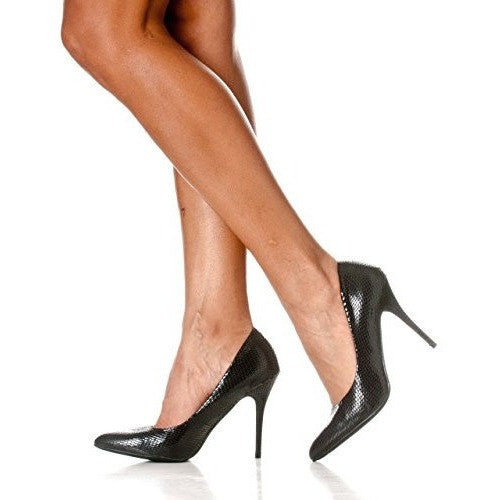 Pointed Closed Toe Stiletto Pump Heels - MillionDollarGurl.Com