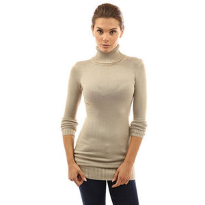 Long Sleeve Turtleneck Sweater - MillionDollarGurl.Com