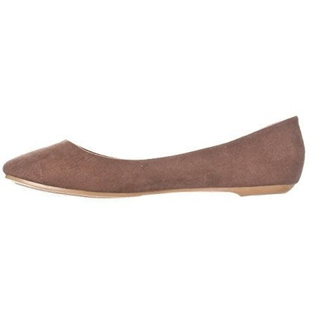 Basic Closed Round Toe Ballet Flat Slip On Shoe - MillionDollarGurl.Com