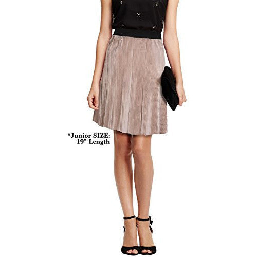 Metallic Pleated Skirt *Plus - MillionDollarGurl.Com