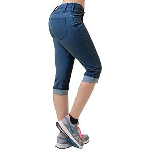 Perfectly Shaping Stretchy Denim Capri *Plus - MillionDollarGurl.Com