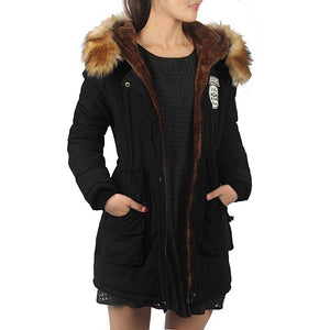 Hooded Faux Fur Trim Parka *Plus - MillionDollarGurl.Com