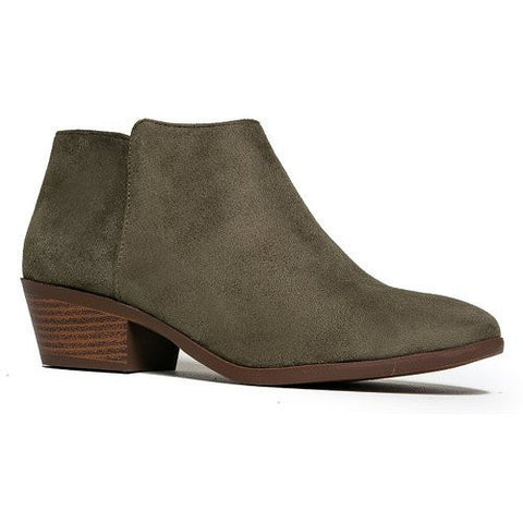 Attractive Solid Color Low Heel Bootie - MillionDollarGurl.Com