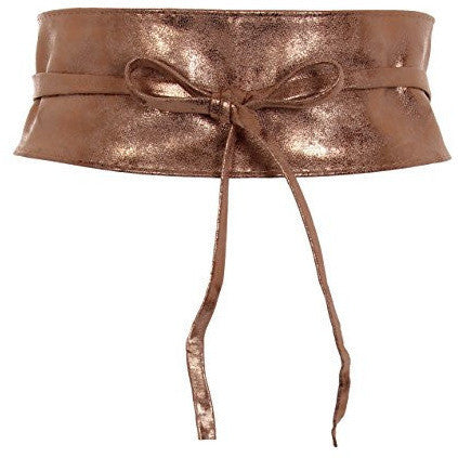 Soft Faux Leather Self Tie Wrap Around Obi Waist Band Belt - MillionDollarGurl.Com
