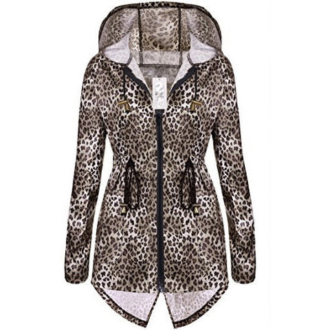 Waterproof Hooded Long Raincoat Jacket *Plus - MillionDollarGurl.Com