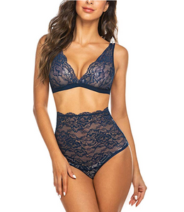 High Waisted Bra & Panty Set *Plus