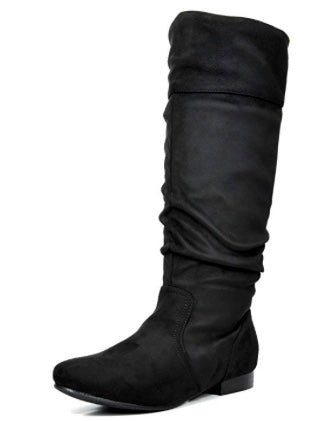Slouchy Classic Wide Calf Boots