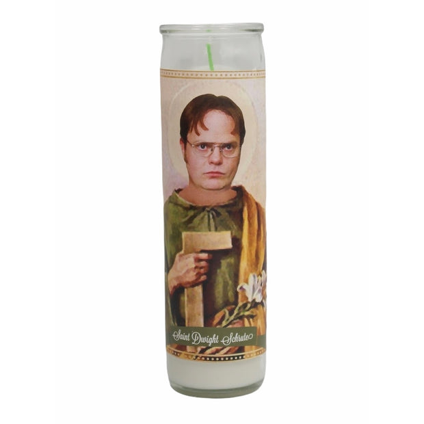 Dwight Schrute Devotional Prayer Saint Candle - Mose Mary and Me