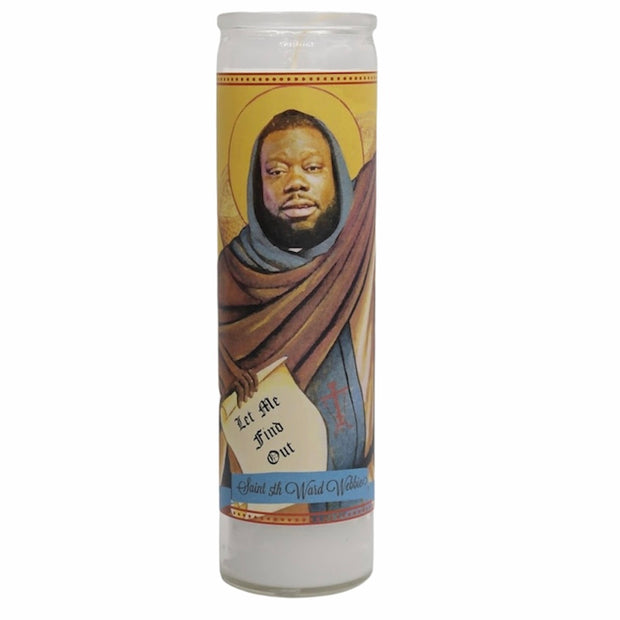 Fifth -5th Ward Webbie Devotional Prayer Saint Candle - Mose Mary and Me