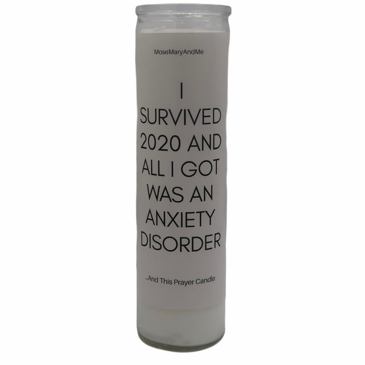 """I Survived 2020"" Devotional Prayer Saint Candle - Mose Mary and Me"