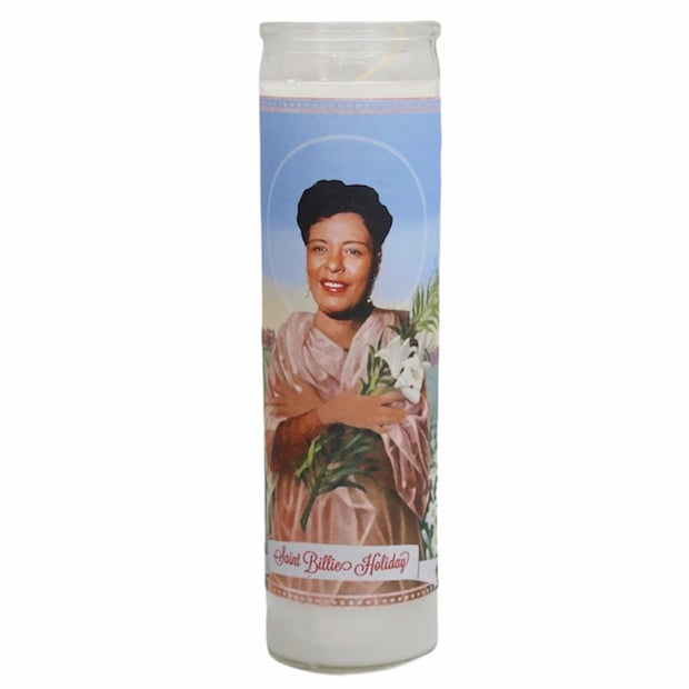 Billie Holiday Devotional Prayer Saint Candle - Mose Mary and Me