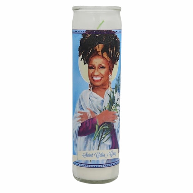 Celia Cruz Devotional Prayer Saint Candle - Mose Mary and Me