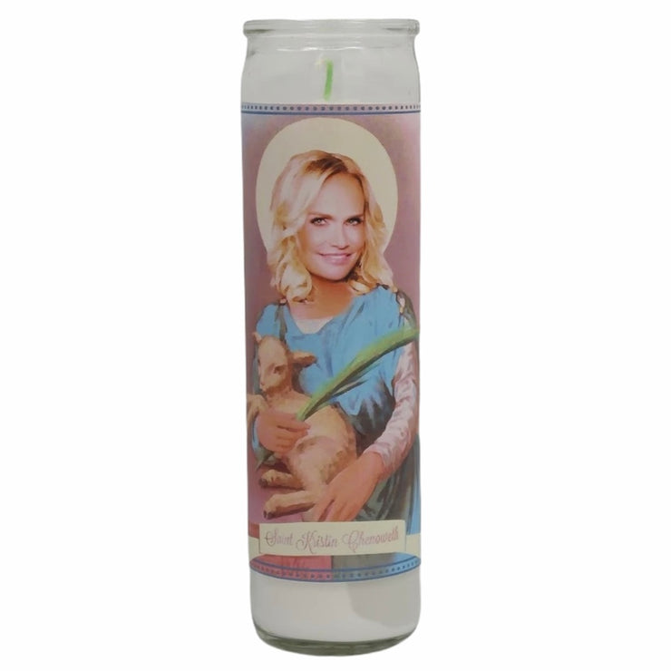 Kristin Chenoweth Devotional Prayer Saint Candle - Mose Mary and Me