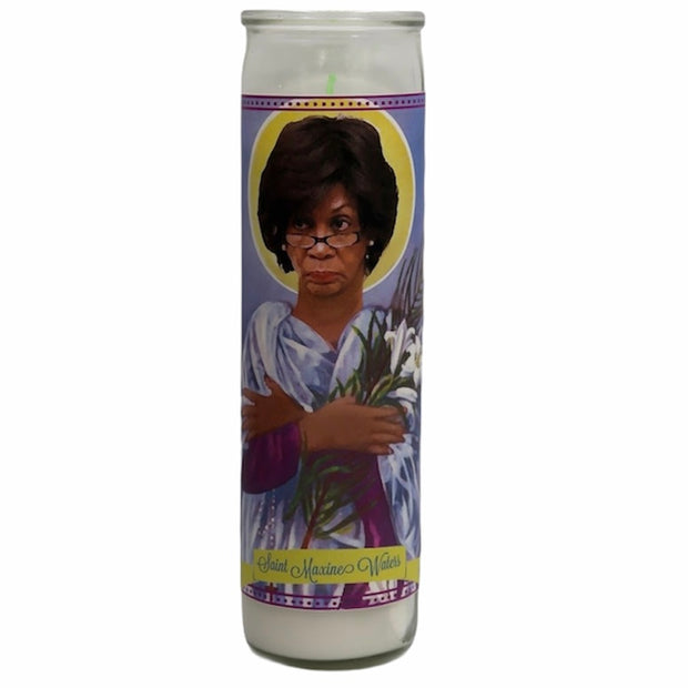Maxine Waters Devotional Prayer Saint Candle - Mose Mary and Me