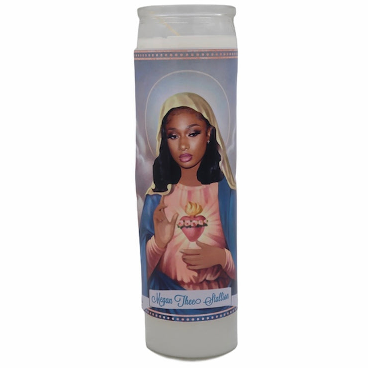 Megan thee Stallion Devotional Prayer Saint Candle - Mose Mary and Me