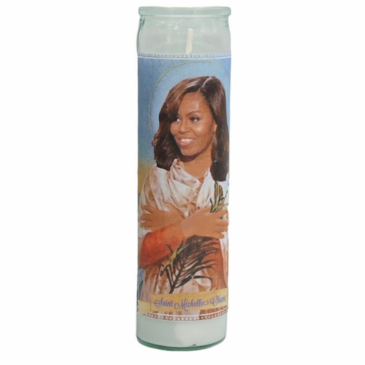 Michelle Obama Devotional Prayer Saint Candle - Mose Mary and Me