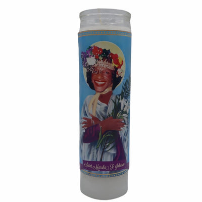 Marsha P. Johnson Devotional Prayer Saint Candle - Mose Mary and Me