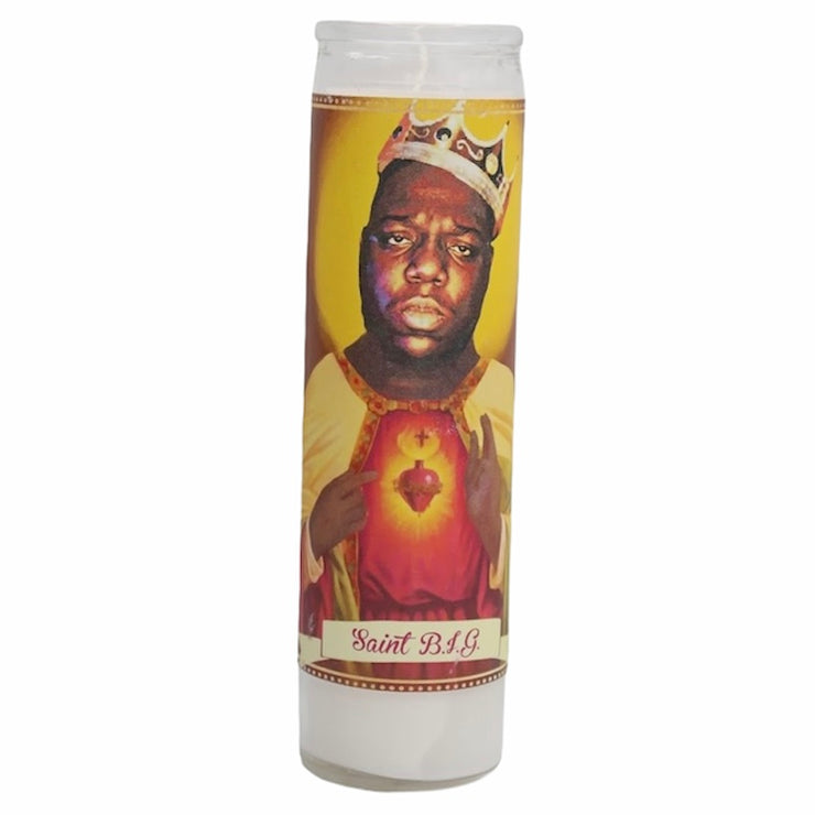 Notorious B.I.G. Devotional Prayer Saint Candle - Mose Mary and Me