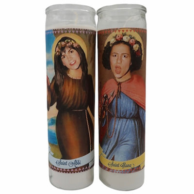 Broad City -Abbi & Ilana Broad City Saint Prayer Devotional Candles Set - Mose Mary and Me