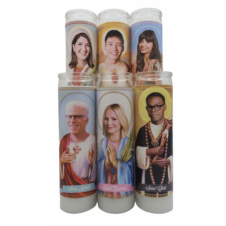 The Good Place Devotional Prayer Saint Candles - Mose Mary and Me