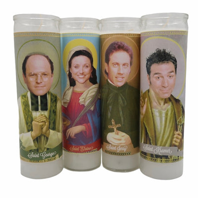 Cast of Seinfeld Devotional Saint Prayer Candle Set - Mose Mary and Me