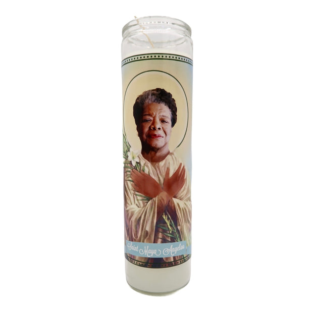 Maya Angelou Devotional Prayer Saint Candle - Mose Mary and Me