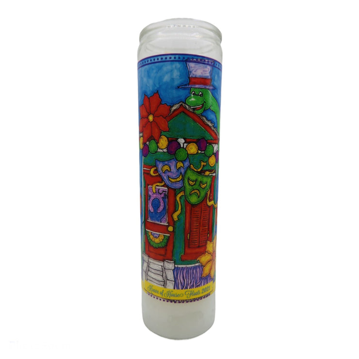 Krewe of House Floats 2021 Devotional Prayer Saint Candle - Mose Mary and Me