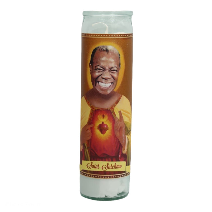 Satchmo Louis Armstrong Devotional Prayer Saint Candle - Mose Mary and Me