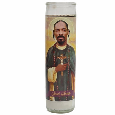 Snoop Dogg Devotional Prayer Saint Candle - Mose Mary and Me