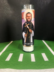 "Choice of Candle from the New Orleans Saints ""Who Dat Collection"" Prayer Saint Candles - Mose Mary and Me"