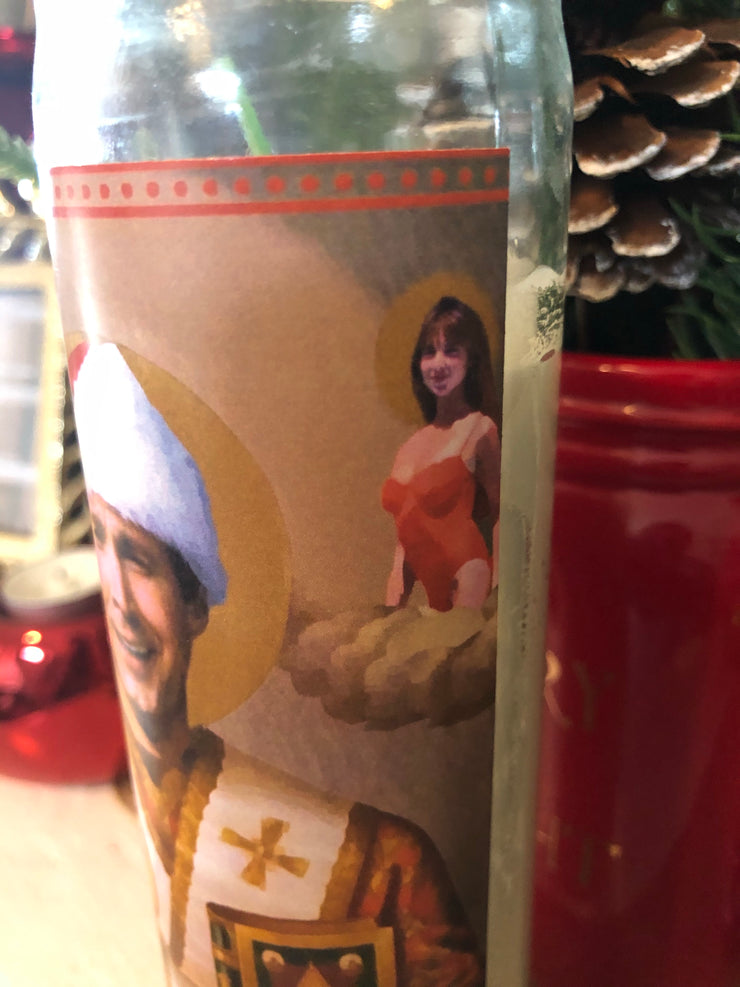 Clark Griswold Christmas Vacation Devotional Prayer Saint Candle - Mose Mary and Me