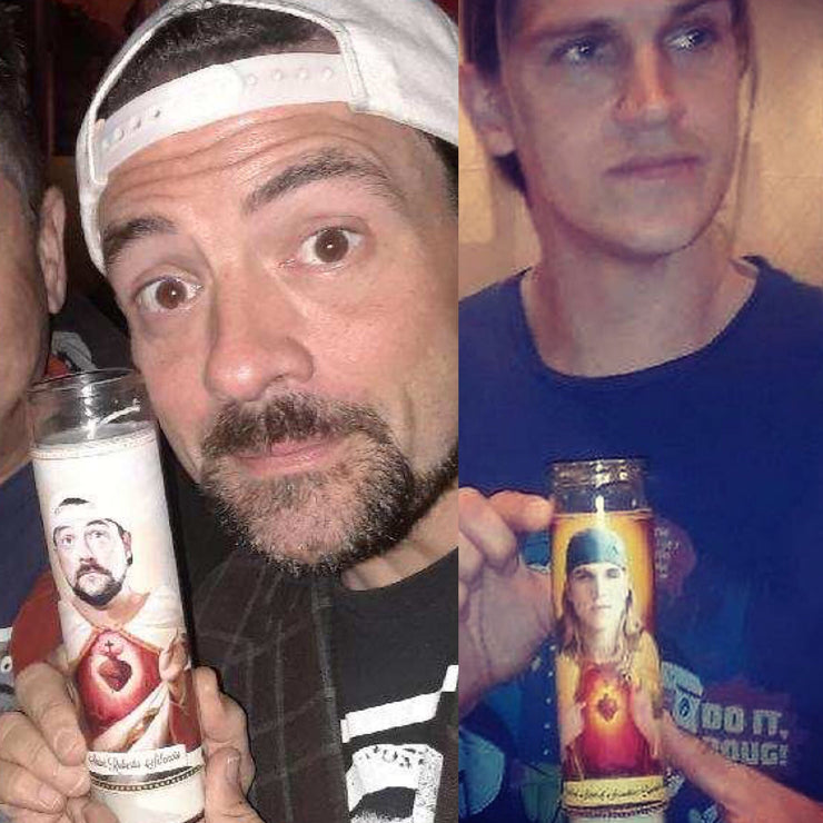 Jay and Silent Bob Saint Prayer Devotional Candles - Mose Mary and Me