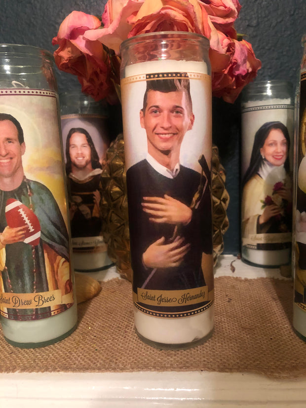 "Choice of Candle from the New Orleans Saints ""Who Dat Collection"" Prayer Saint Candles"