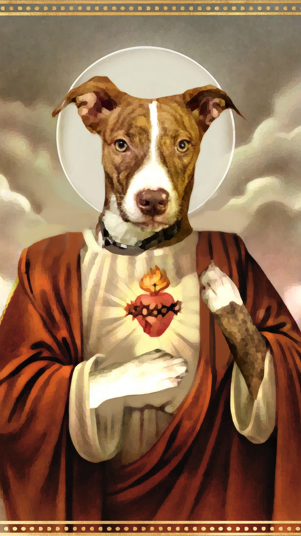 Personalized Custom Devotional Prayer Saint Candle (Pet)- Create Your Own - Mose Mary and Me