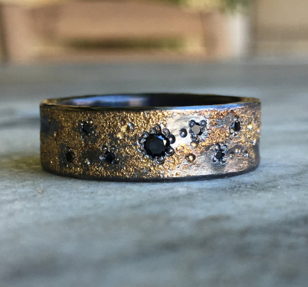 BLACK DIAMOND GALAXY RING