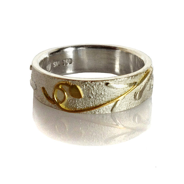 FLAX LILY RING (Gold & Silver 6mm)