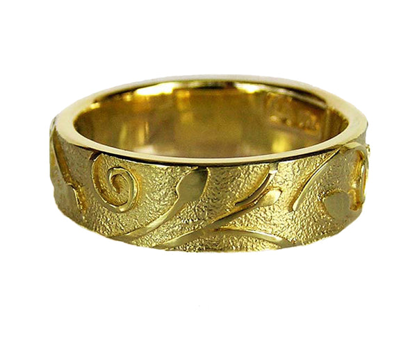 GOLD FLAX LILY RING