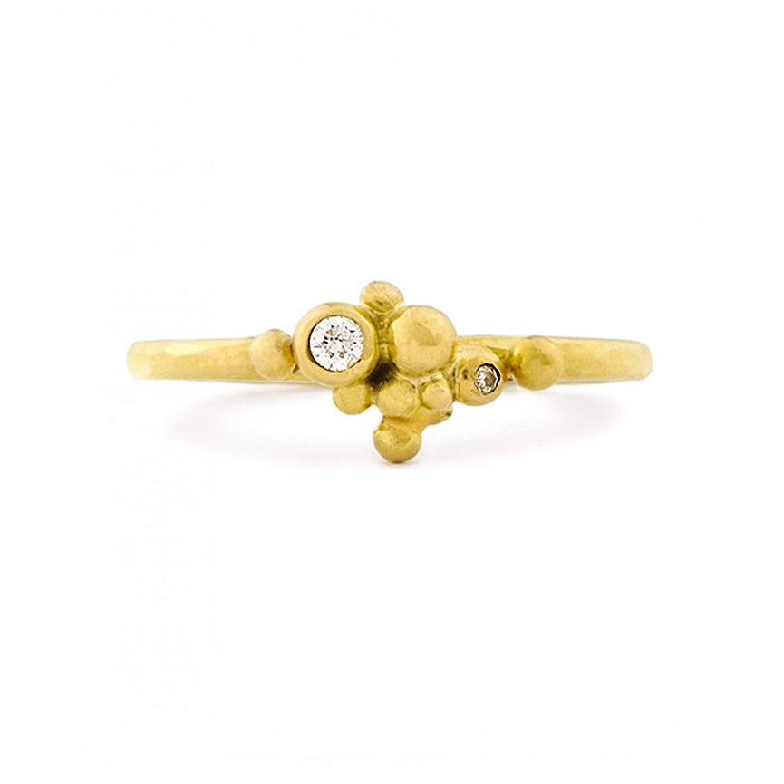 GOLDEN BERRIES RING WITH DIAMONDS