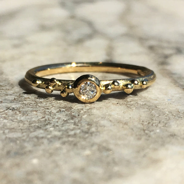 GOLDEN ORB RING WITH GRANULATION