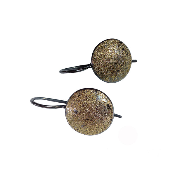 GOLDEN FROSTED HOOK EARRINGS