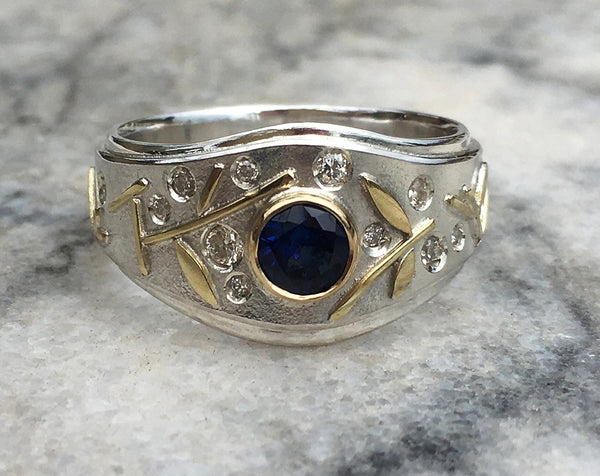 MIDNIGHT REFLECTION RING FOR KAZ