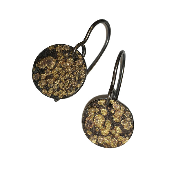 STONE PATTERN HOOK EARRINGS