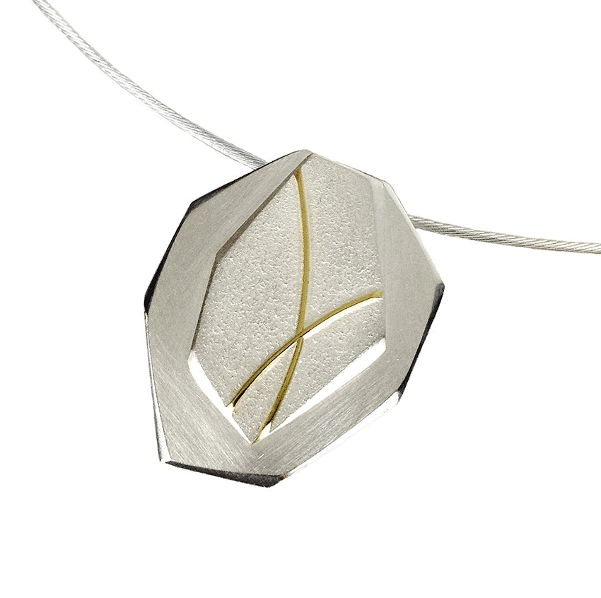 SEAM OF GOLD FACETED PENDANT