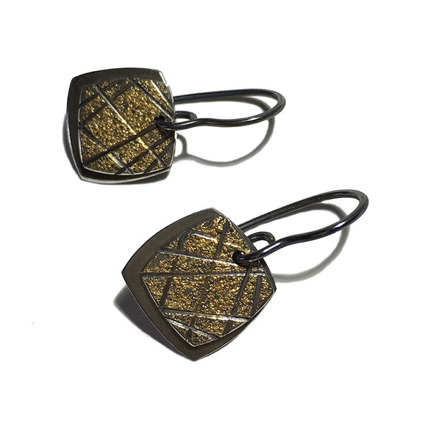 TARTAN HOOK EARRINGS - SQUARE