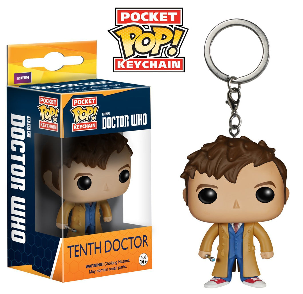 Tenth Doctor Funko Pop keychain