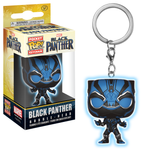 Black Panther (blue glow suit) Funko Pop keychain
