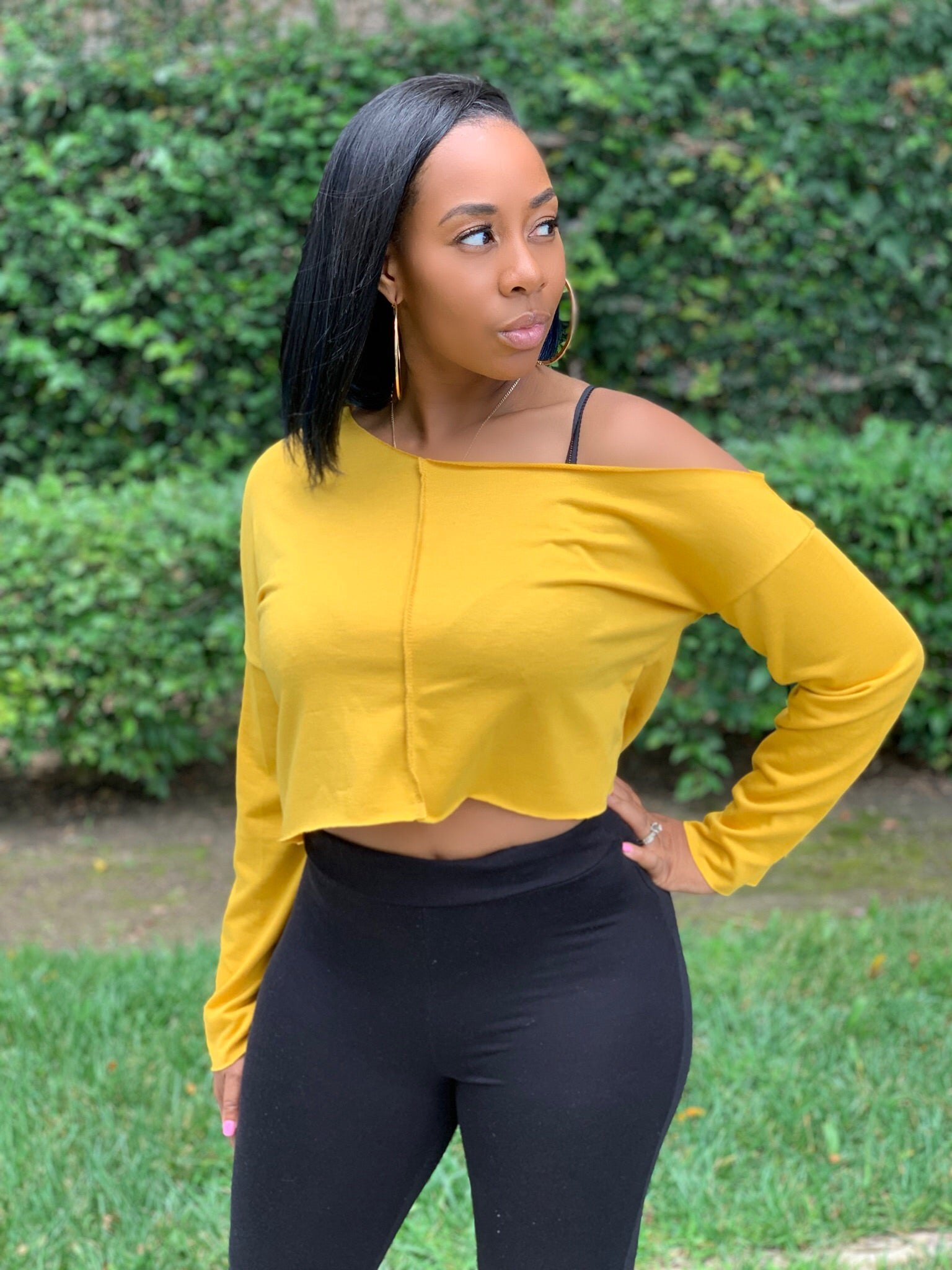 THALIA HALF TOP-MUSTARD - IntrigueFashions